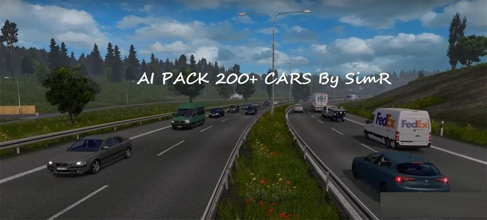 AI TRAFFIC CAR 200 BY SIMR CARS MOD - ETS2 Mod