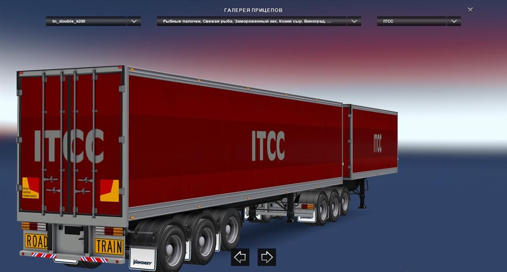 Seat Skins For Trucks >> ETS2 DOUBLE TRAILERS V3.0 1.25.X - 1.26.X TRAILERS MOD ...