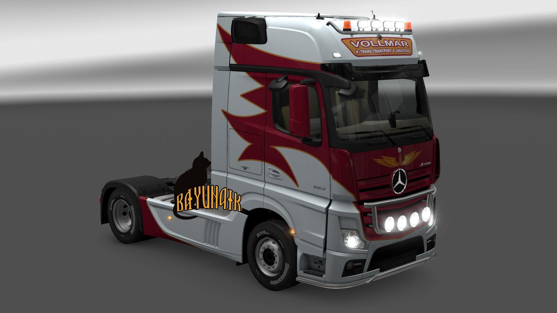 mercedes benz new actros vollmar skin 1.25 truck skin - ets2 mod