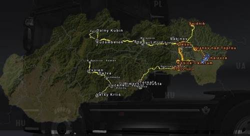 Slovakia Map V For Ets ETS Mod - Portugal map euro truck simulator 2