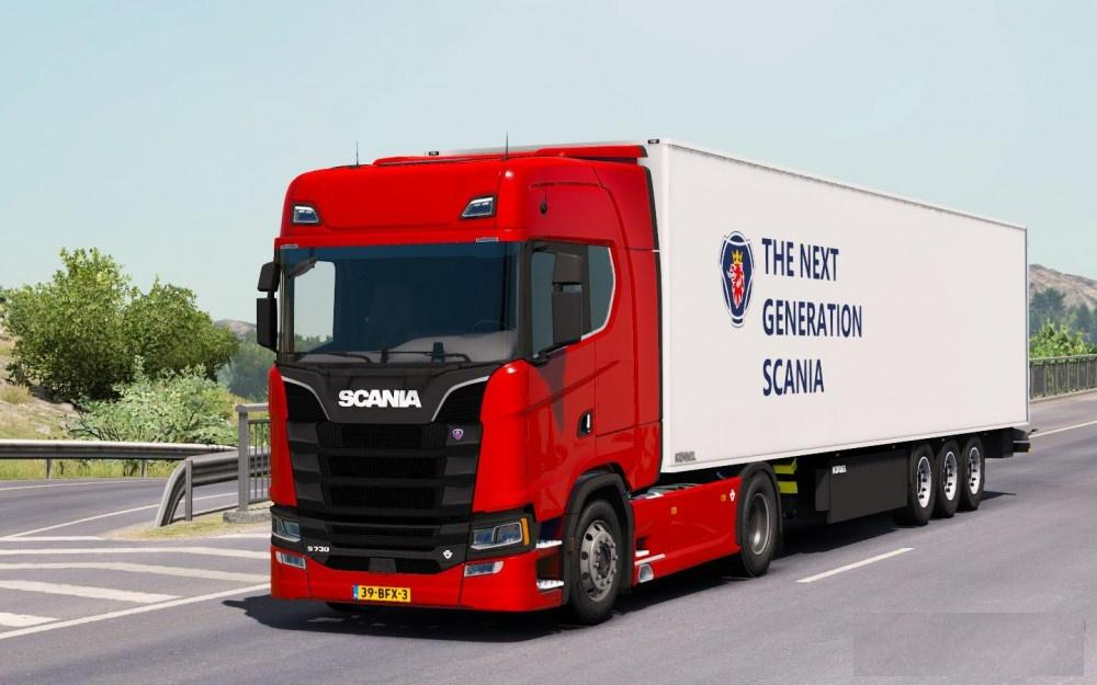 scania s series minor bugs fixed number plate truck. Black Bedroom Furniture Sets. Home Design Ideas