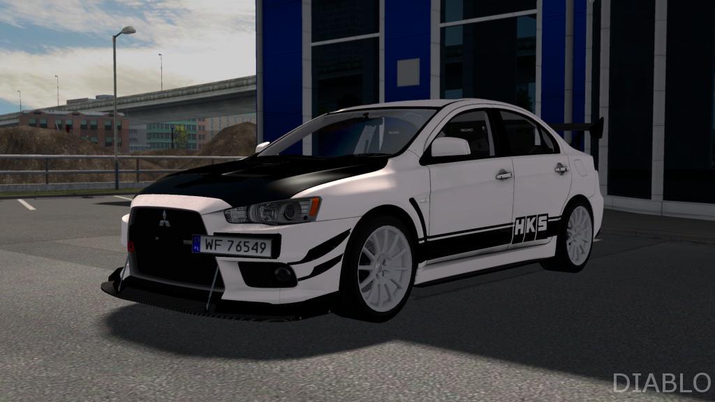 MITSUBISHI LANCER EVO X CAR MOD - ETS2 Mod