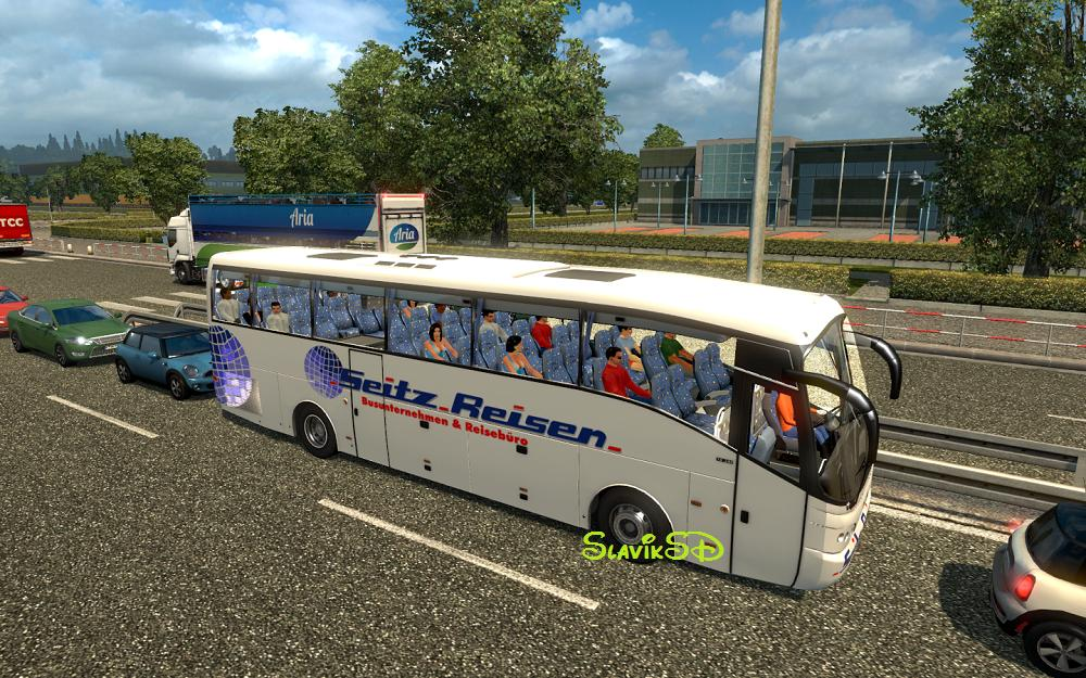BUS IN TRAFFIC BY TAINA95 MOD - ETS2 Mod