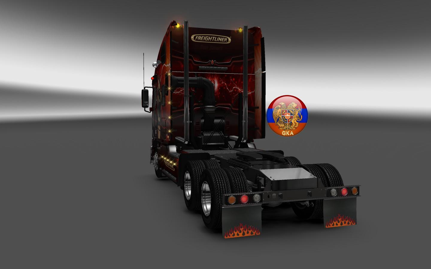 freightliner argosy run smart skin truck skin ets2 mod. Black Bedroom Furniture Sets. Home Design Ideas