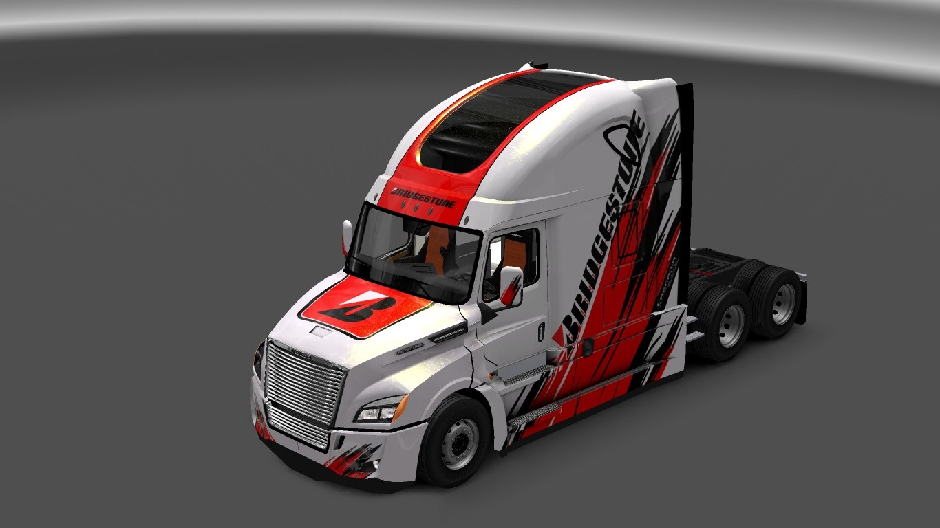 Bridgestone Truck Skin for Freightliner Cascadia 2018 - ETS2 Mod