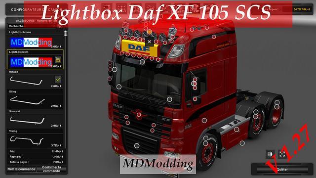 Lightbox Daf Xf 105 V1 27 X Tuning Mod Ets2 Mod