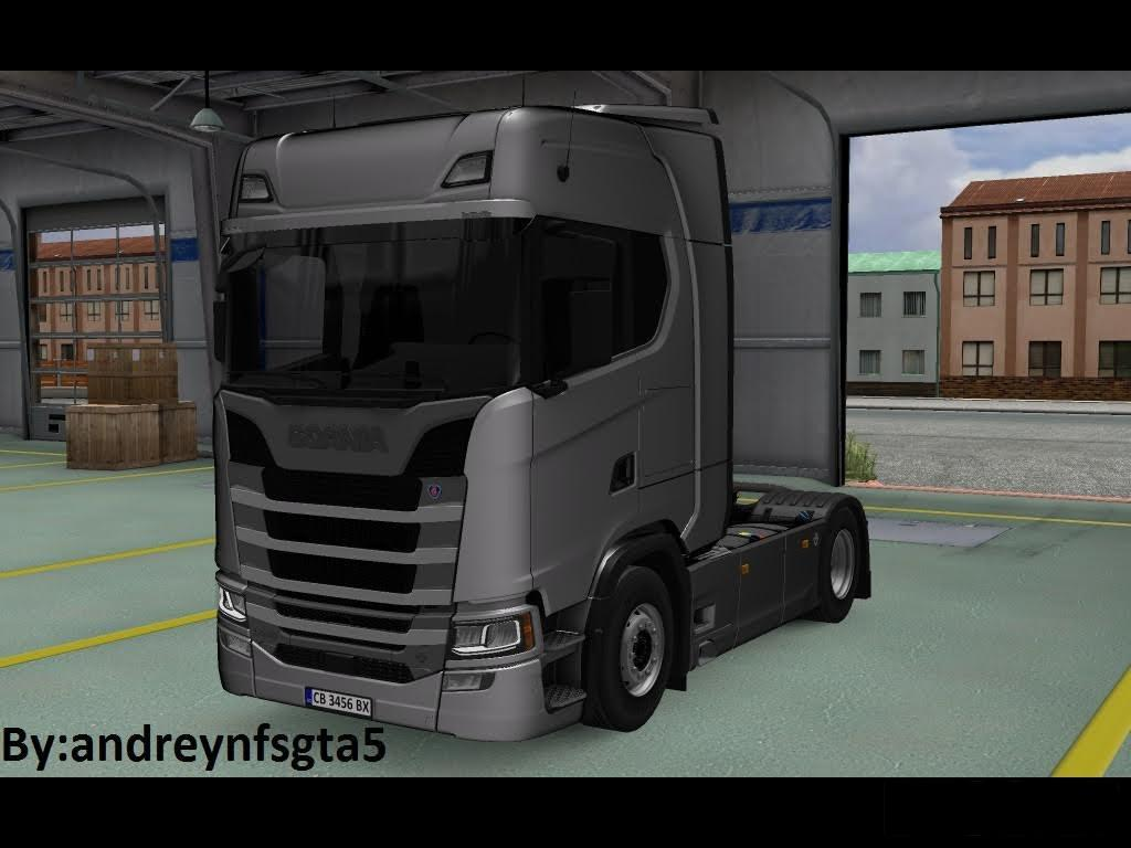 scania new s series bg plates and trailer ets2 ets2 mod. Black Bedroom Furniture Sets. Home Design Ideas