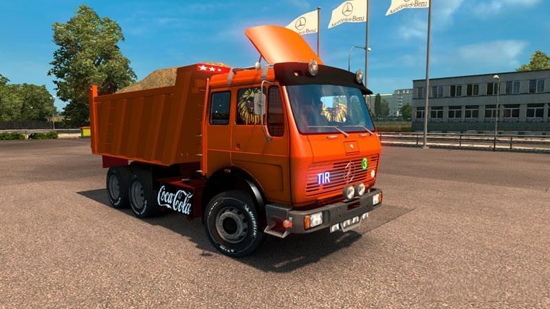 Mercedes benz ng 1632 dump truck mod ets2 mod for Mercedes benz dump truck