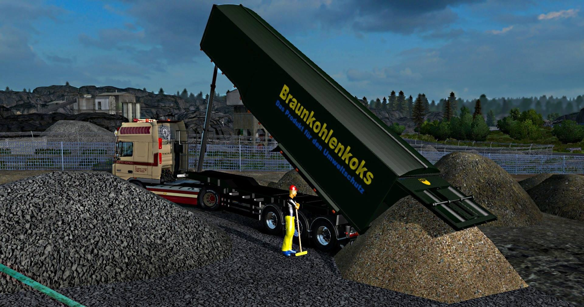 GRAIN TRAILER BY AW 3D MODS V1 27 ETS2 - ETS2 Mod