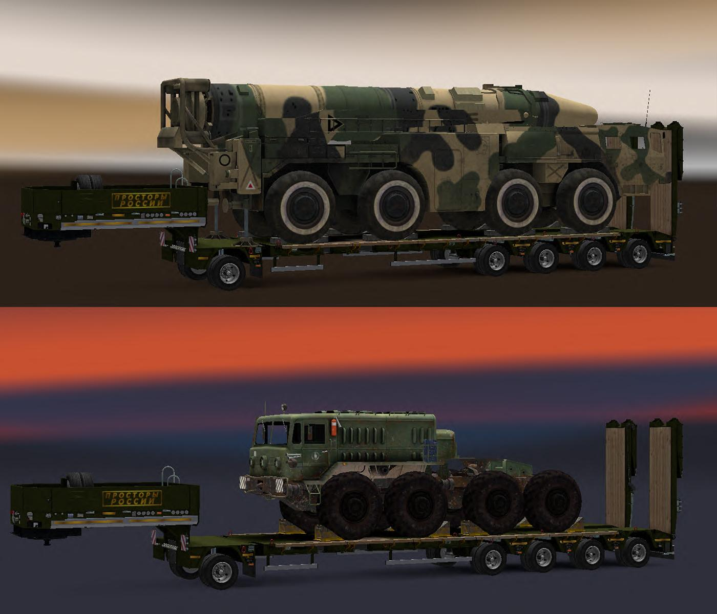 Pack trailers heavy cargo for the map russian open spaces for The russian mod