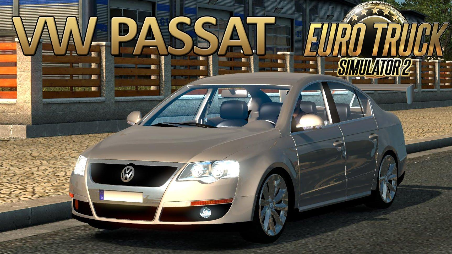 volkswagen passat b6 interior v1 8 updated car mod ets2 mod. Black Bedroom Furniture Sets. Home Design Ideas
