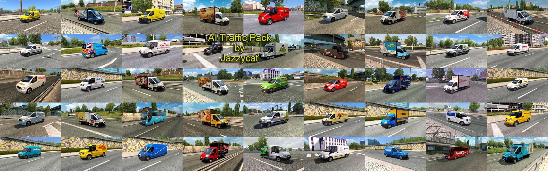 AI TRAFFIC PACK BY JAZZYCAT V5 4 ETS2 MOD - ETS2 Mod