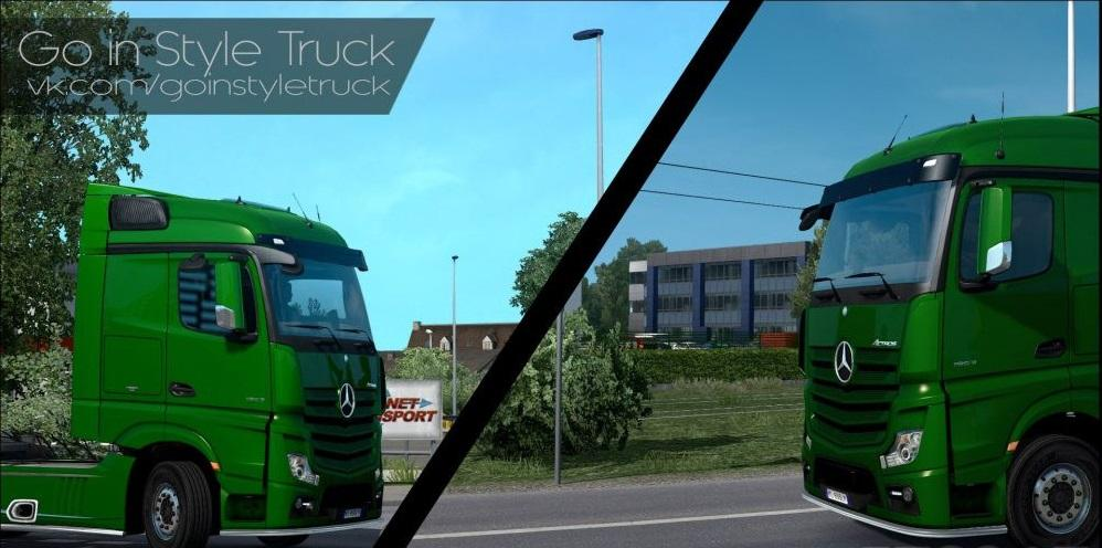 GO-IN-STYLE GRAPHIC MOD [1 27 X] ETS2 MOD - ETS2 Mod