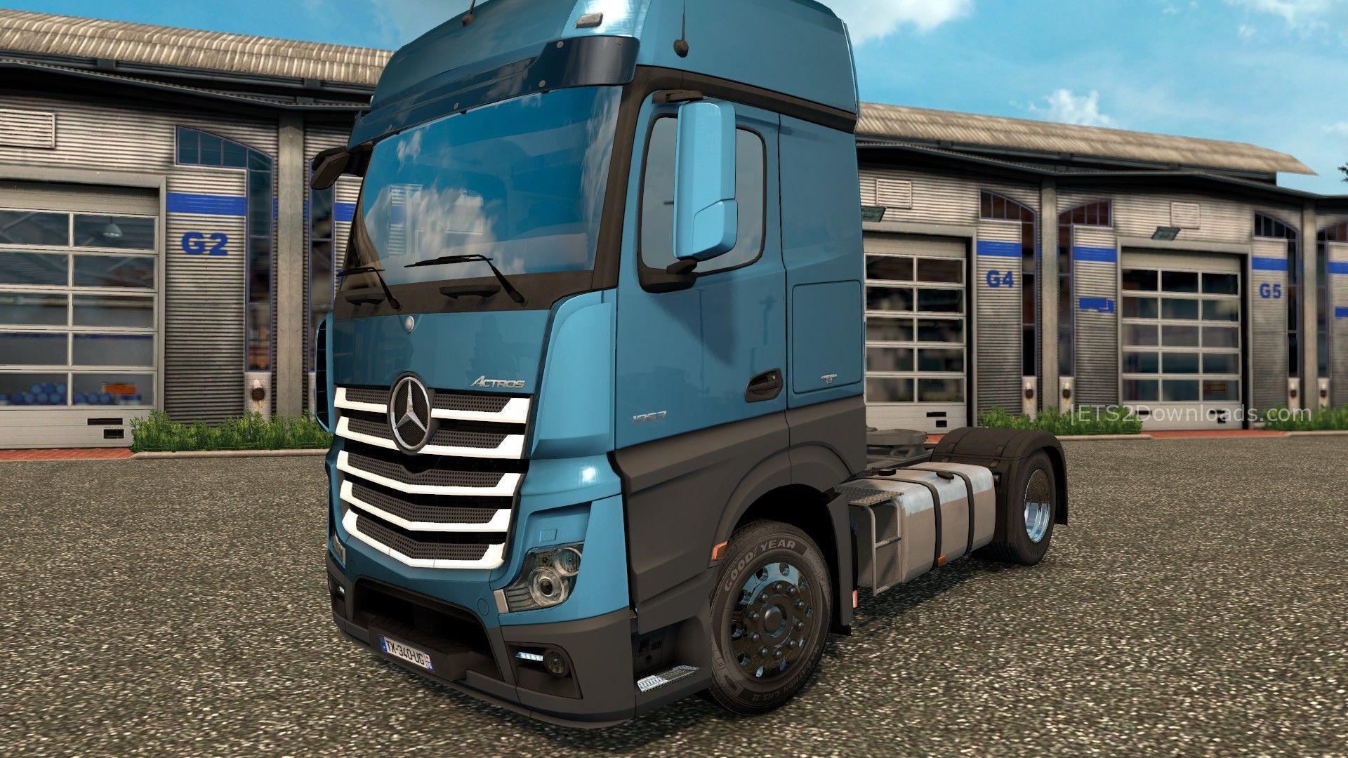 mercedes benz axor v3 0 truck mod ets2 mod. Black Bedroom Furniture Sets. Home Design Ideas