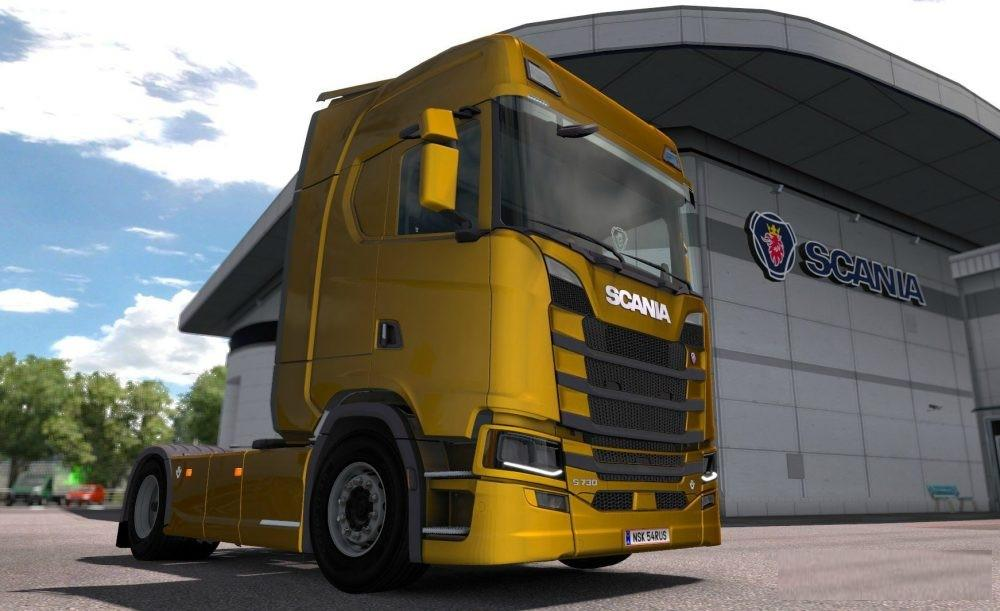 SCANIA S730 2017 WITH REAL INTERIOR TRUCK MOD - ETS2 Mod