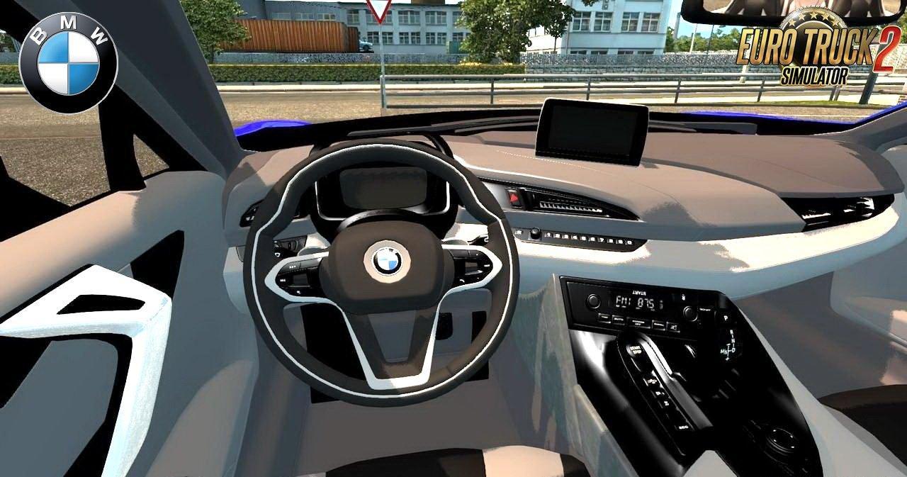 bmw i8 interior v3 0 car mod ets2 mod. Black Bedroom Furniture Sets. Home Design Ideas