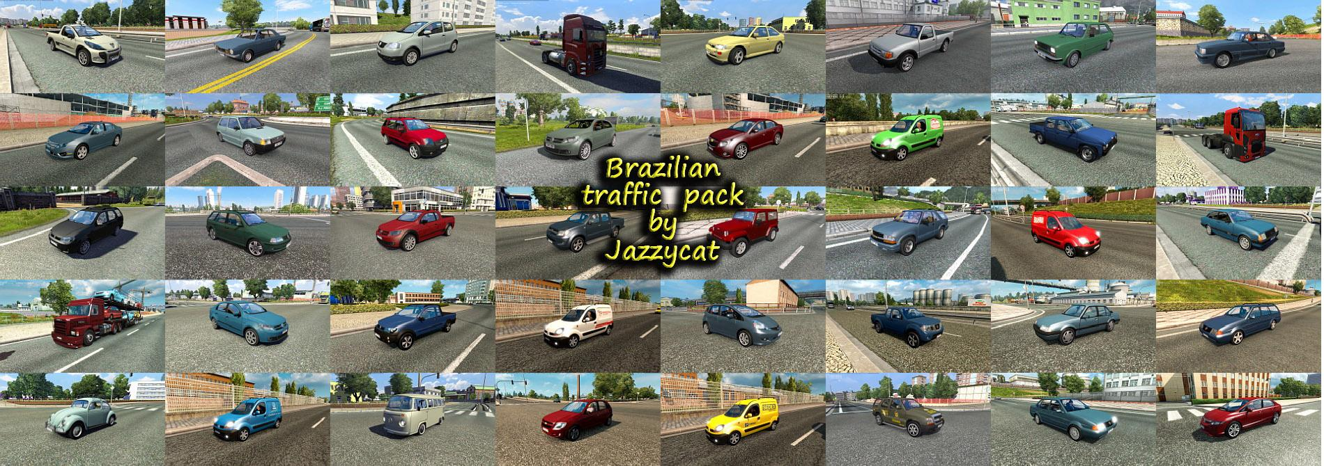 brazilian traffic pack by jazzycat v2 0 ets2   ets2 mod