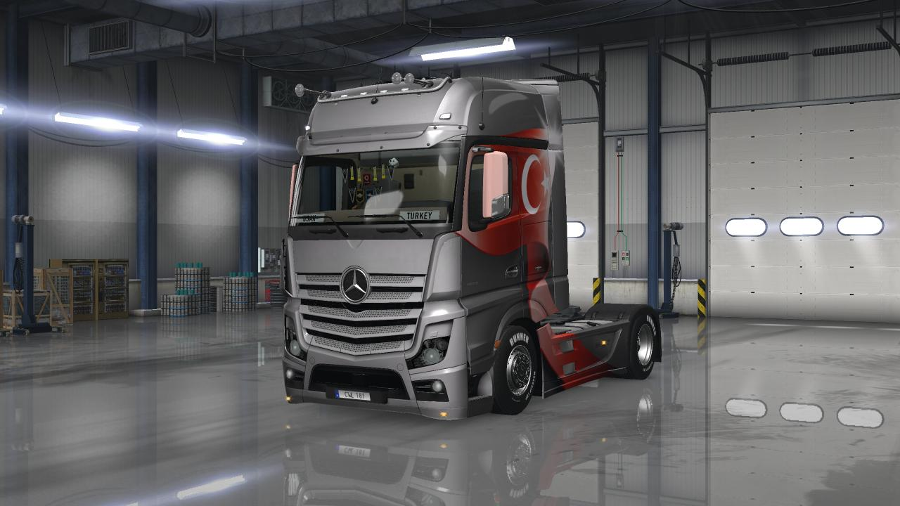 Mercedes benz actros mp4 tuned tuning mod ets2 mod for Mercedes benz truck parts