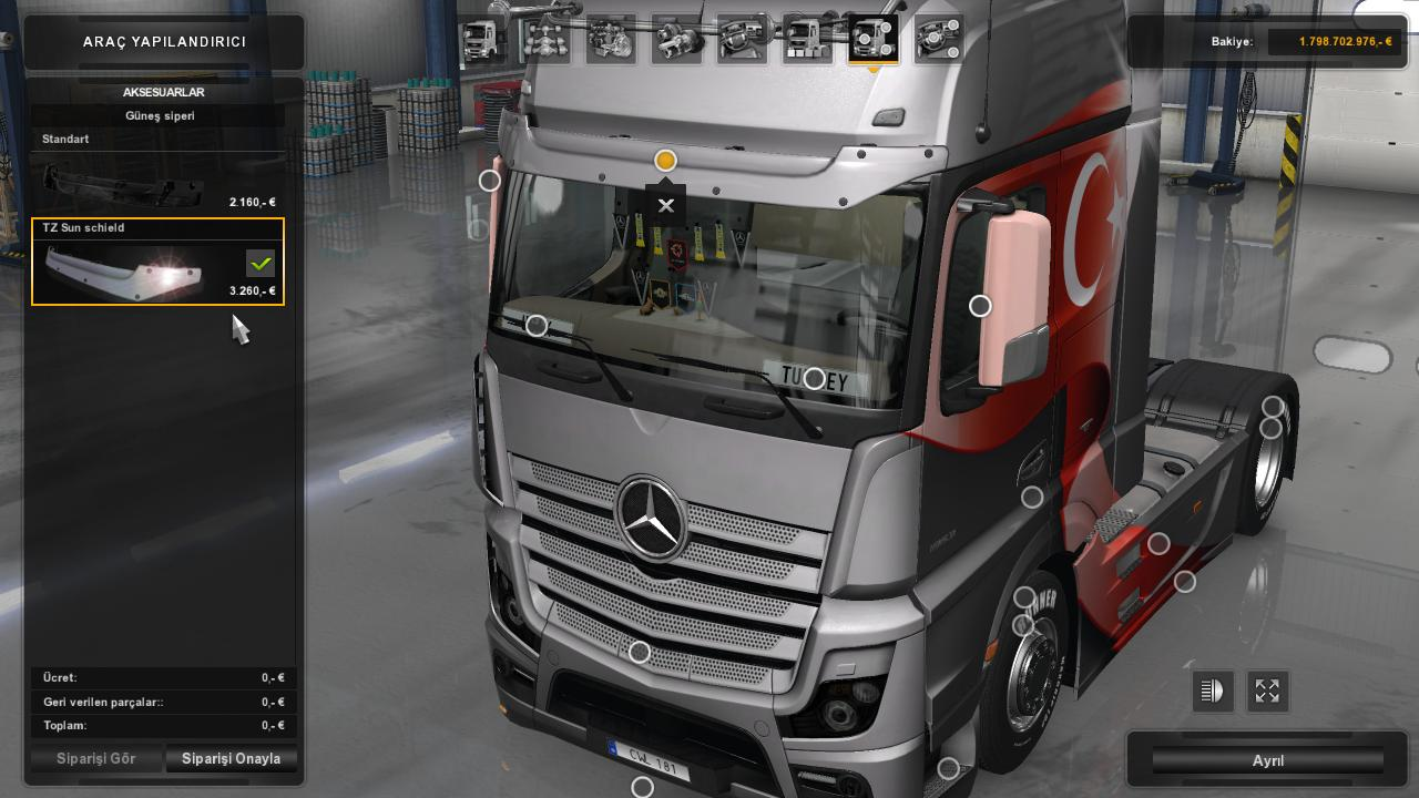 Mercedes Benz Actros Mp4 Tuned 1 28 Tuning Mod Ets2 Mod