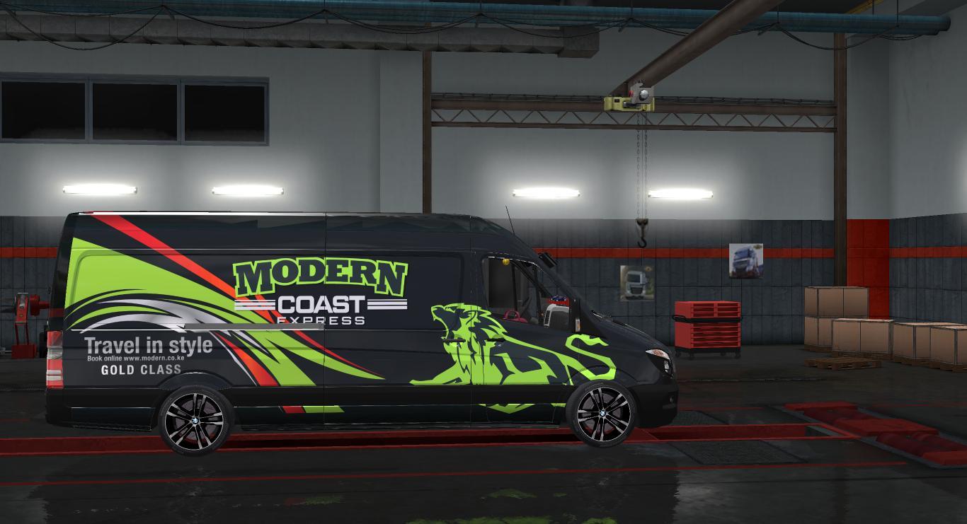 Mercedes sprinter momentum paint job ets2 ets2 mod for Car paint simulator