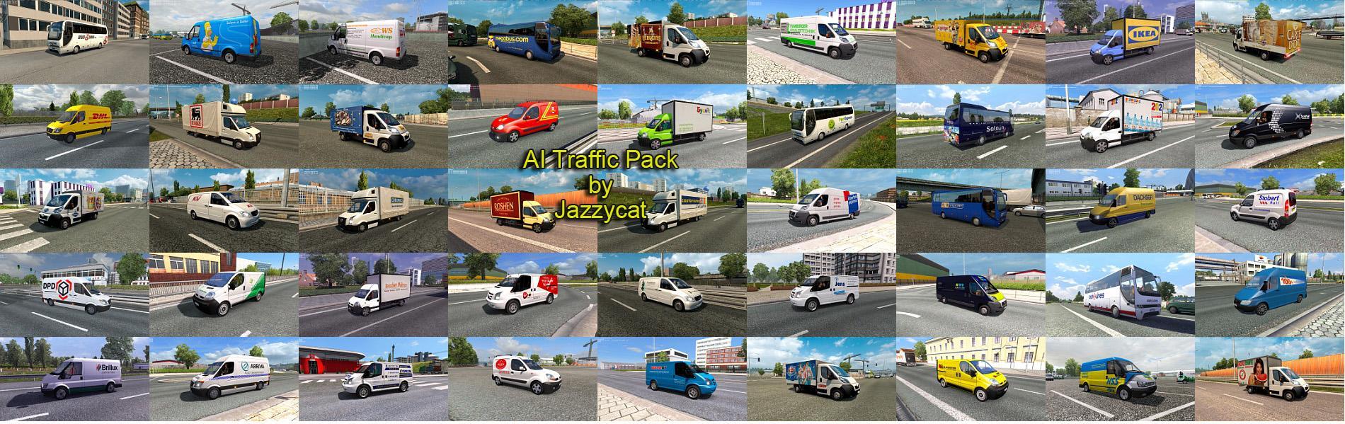 AI TRAFFIC PACK BY JAZZYCAT V6 2 MOD - ETS2 Mod
