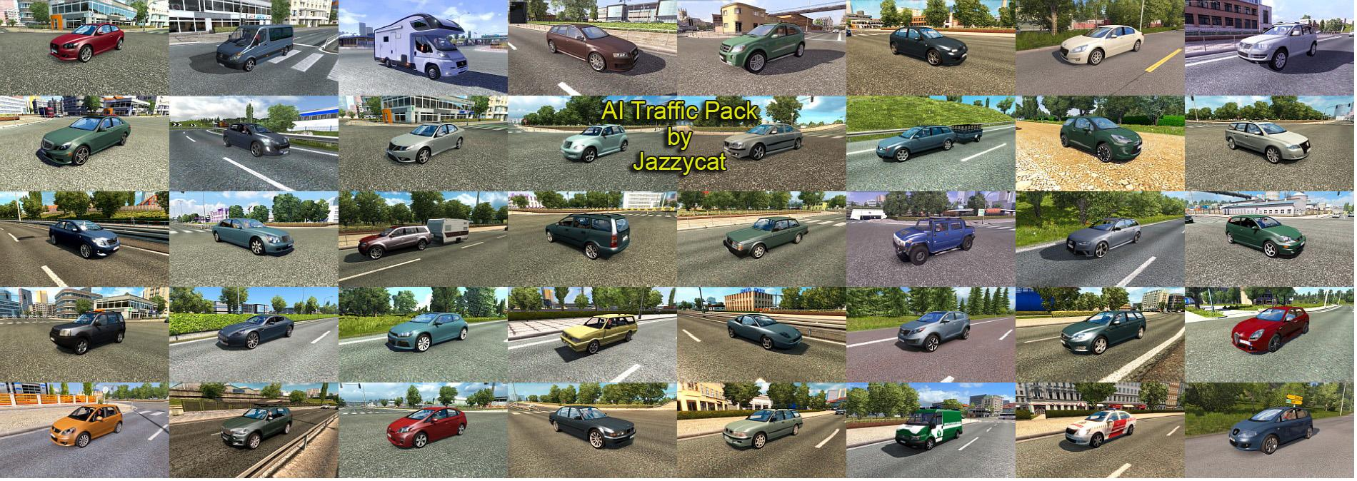 Ai Traffic Pack By Jazzycat V65 For Ets2 Ets2 Mod