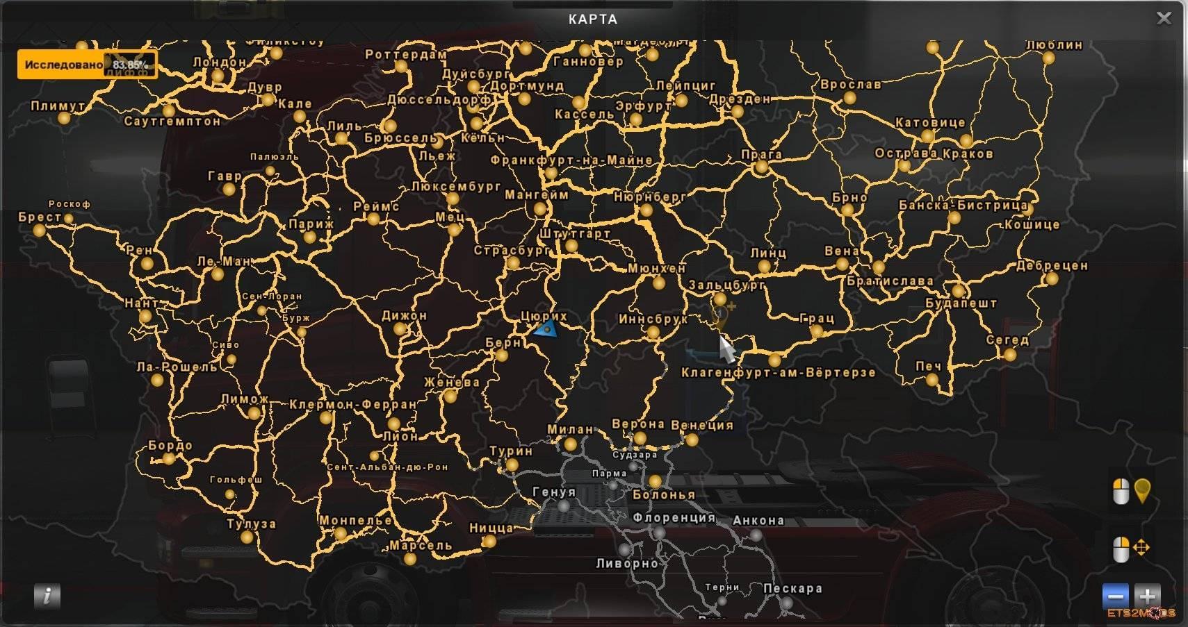 RUSSIAN CITY NAMES FOR ETS2 V10 MOD ETS2 Mod