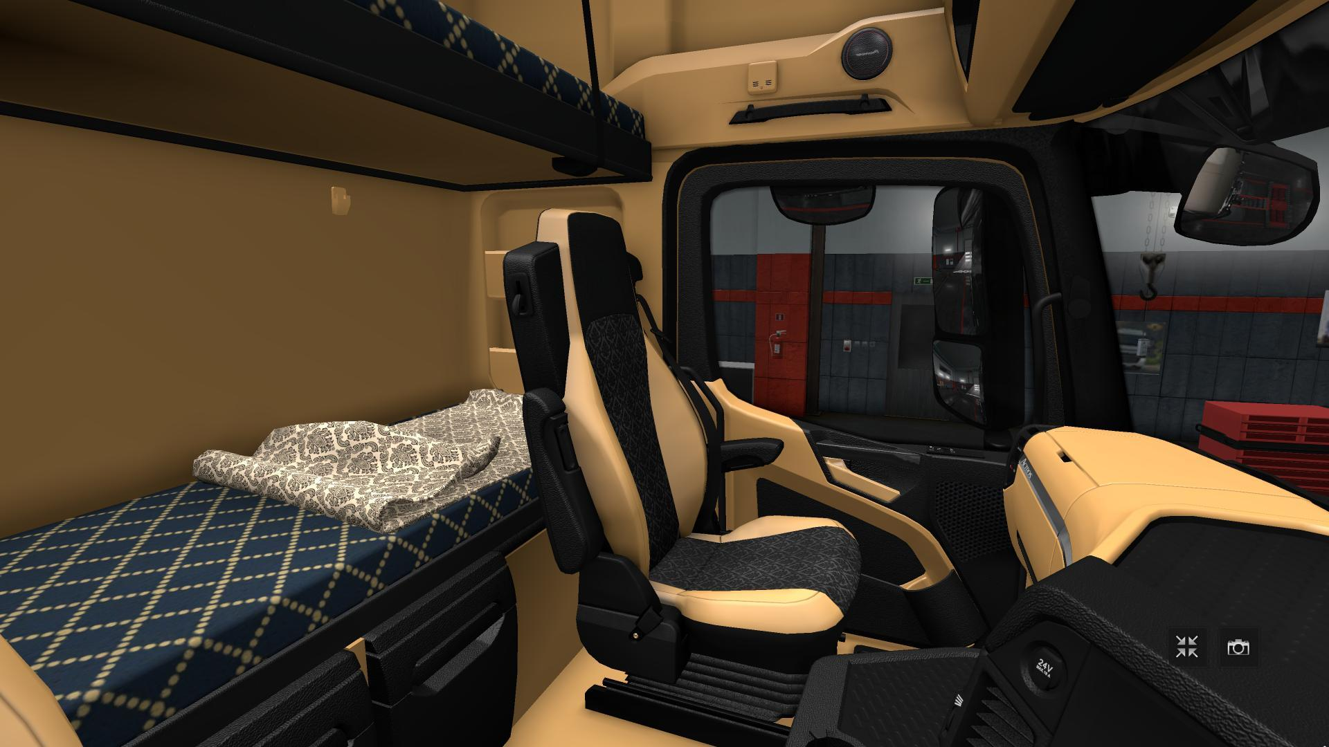 The luxury hd interior for actros mp4 final v1 3 interior mod ets2 mod - Interior hd pic ...