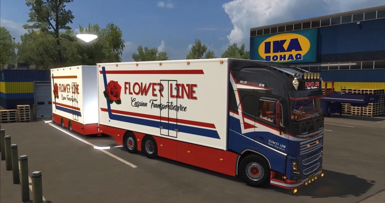Volvo Fh16 Flowerline 1 30 X Truck Skin Ets2 Mod