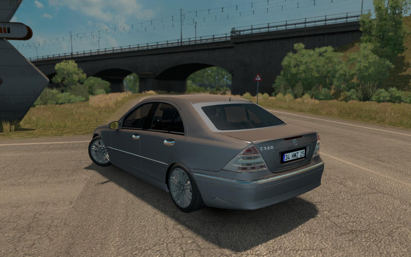 Mercedes benz c32amg c320 v1 0 car mod ets2 mod for Mercedes benz c320