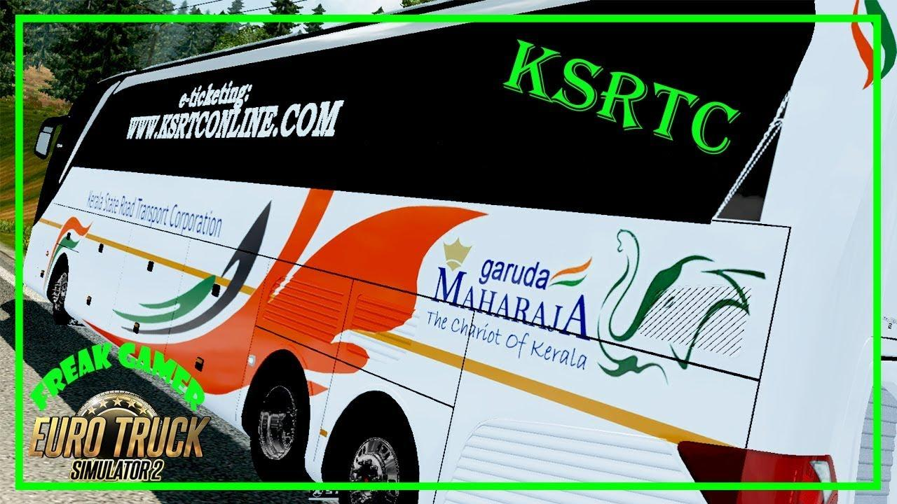 INDIAN BUS KSRTC MAHARAJA SKIN FOR SETRA 517 HDH 1 30 X ETS2