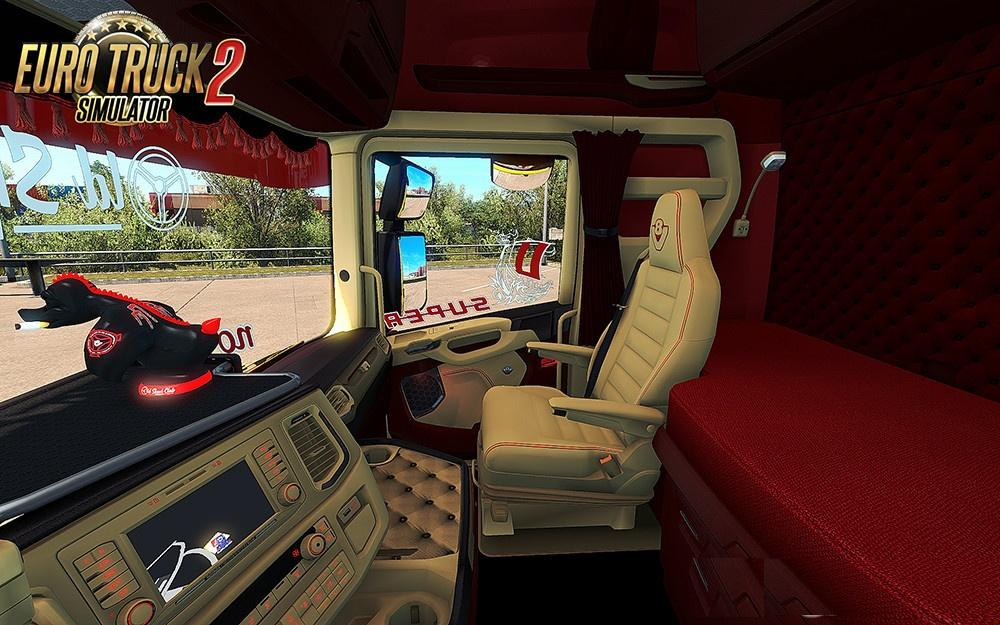 SCANIA S 2016 SCS RED & BEIGE INTERIOR (IN & OUTSIDE) MOD