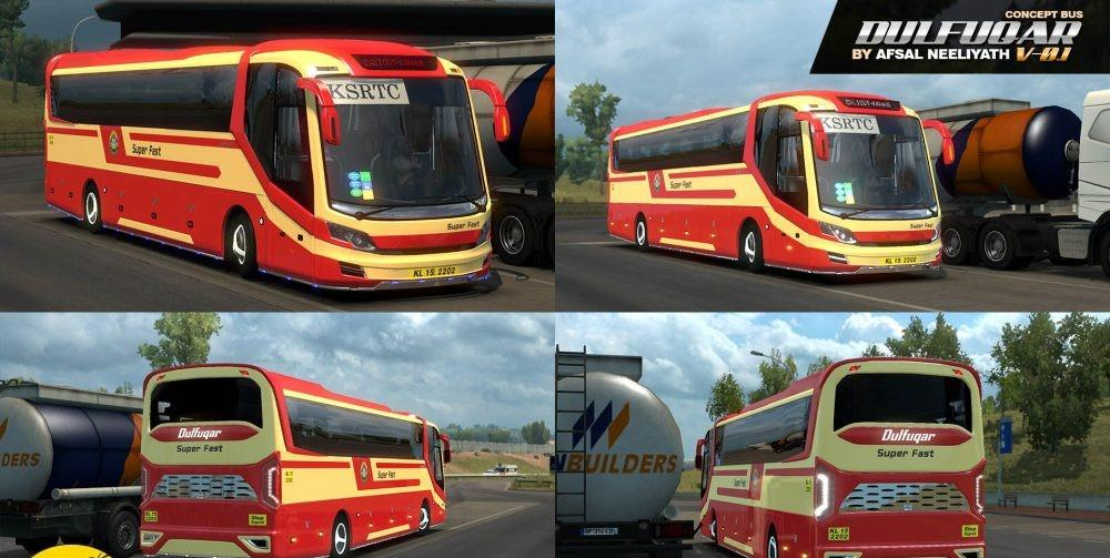 DULFUQAR V0 1 ERROR FIXED VERSION WITH PROFILE BUS MOD - ETS2 Mod