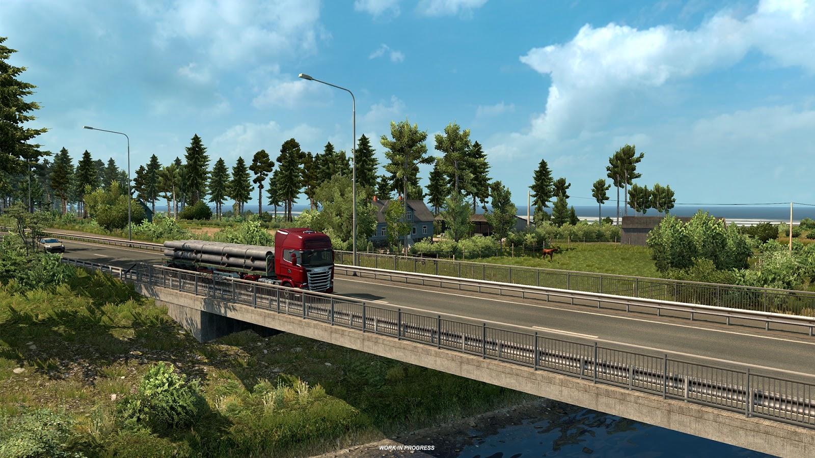 euro truck simulator 2 beyond the baltic sea dlc ets2 mod. Black Bedroom Furniture Sets. Home Design Ideas