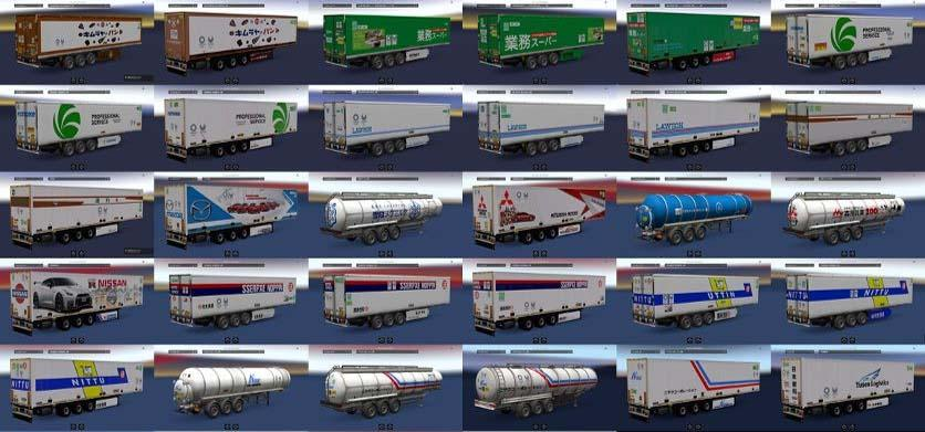 Japan Company Trailer Pack V1 0 For Ets2 Ets2 Mod