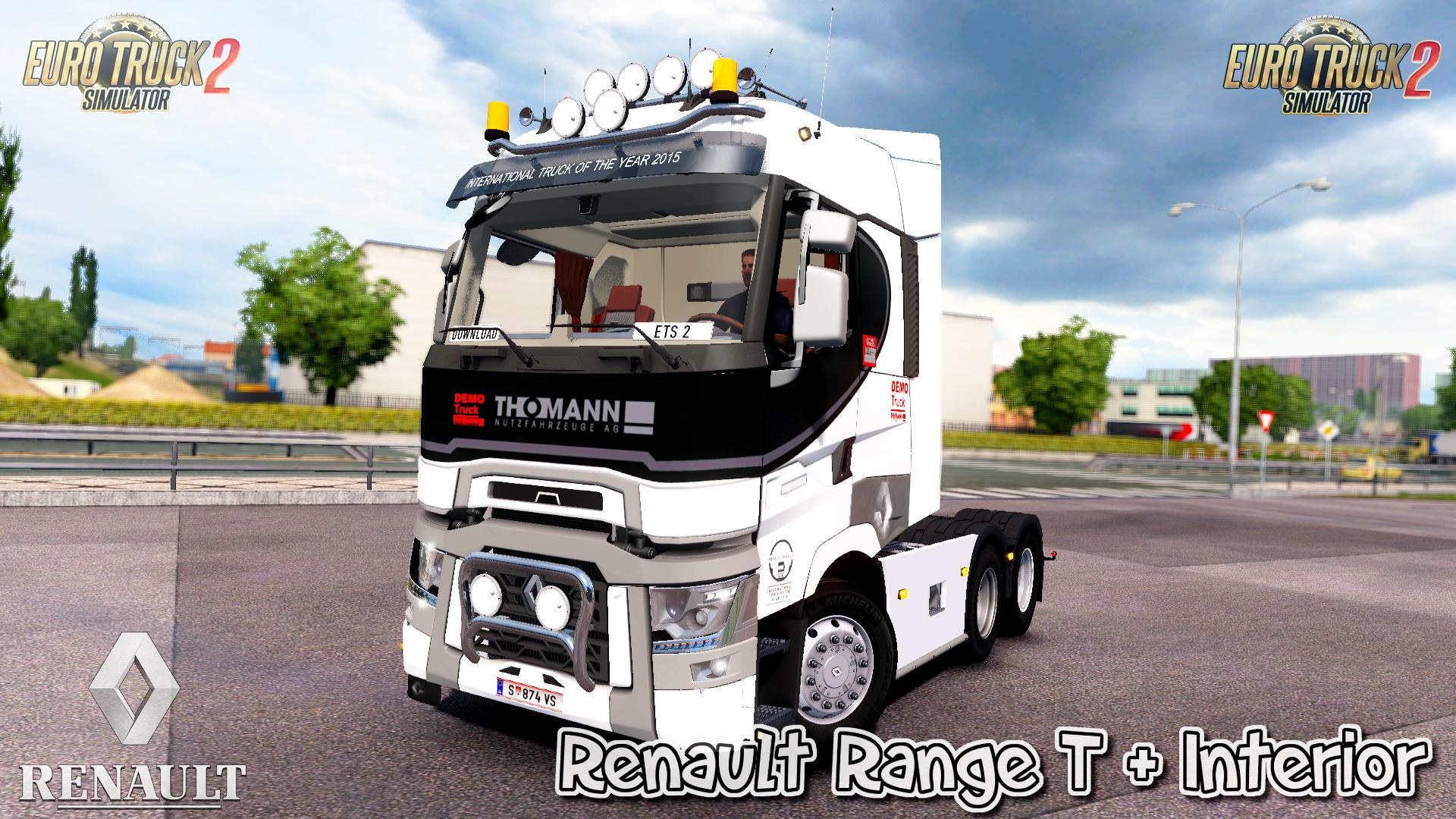 Seat Skins For Trucks >> RENAULT RANGE T + INTERIOR V7.0 1.31.X TRUCK MOD - ETS2 Mod