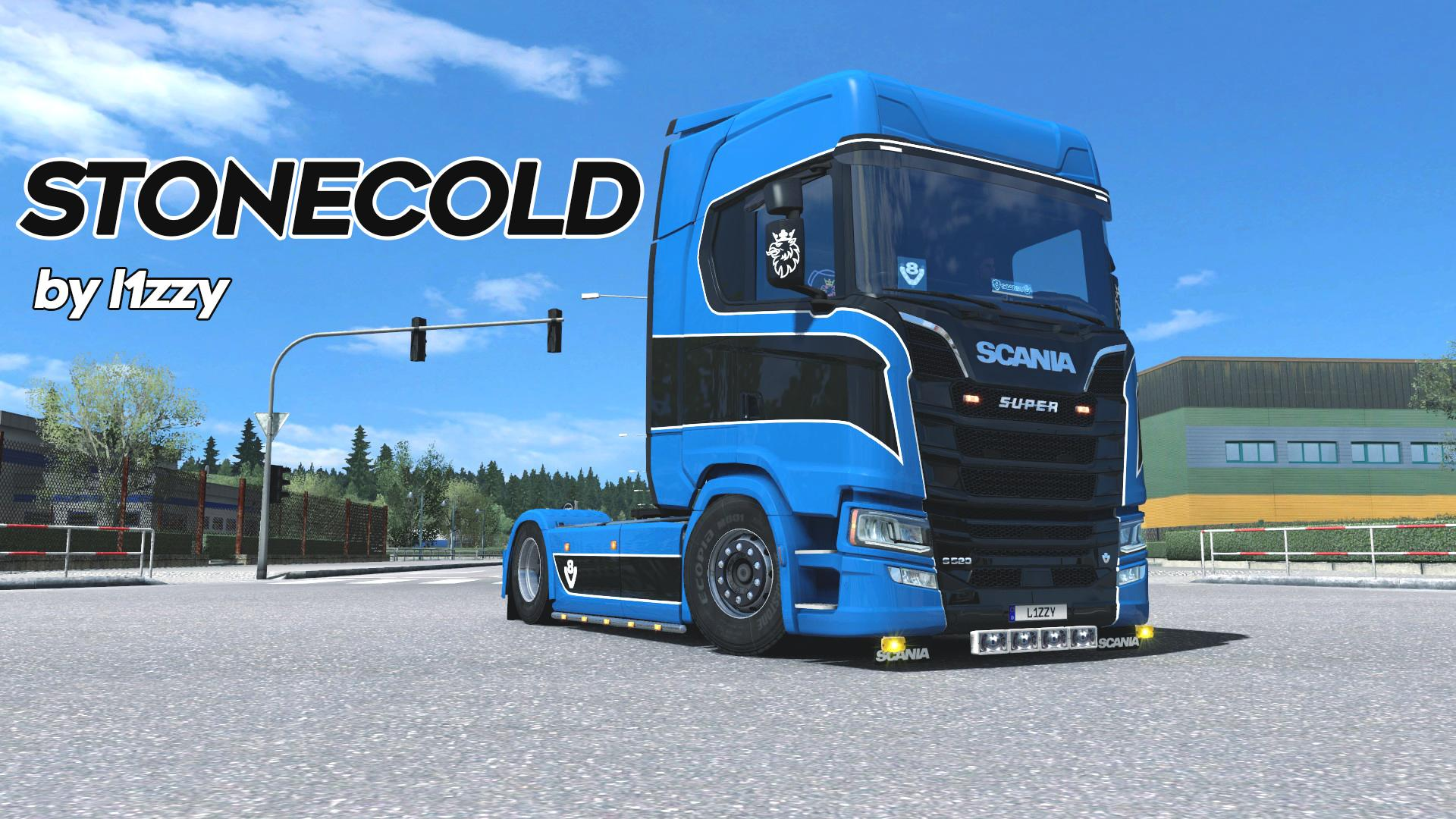 scania s stonecold by l1zzy truck skin ets2 mod. Black Bedroom Furniture Sets. Home Design Ideas