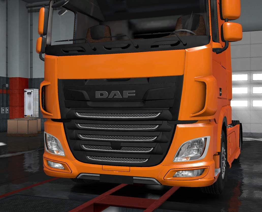 DAF XF EURO 6 PLASTIC FRONT BADGE PLATE 1 31 TUNING MOD
