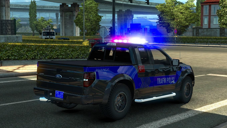 ford f150 raptor turkish police car paintjob v1 1 car mod. Black Bedroom Furniture Sets. Home Design Ideas