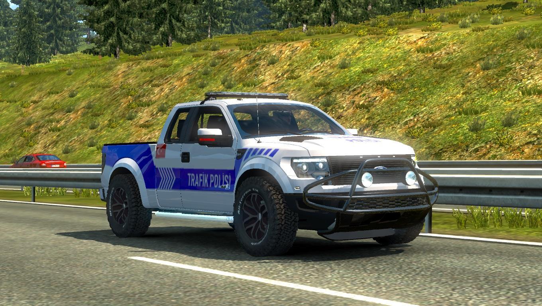 ford f150 raptor turkish police car paintjob v1 1 car mod ets2 mod. Black Bedroom Furniture Sets. Home Design Ideas