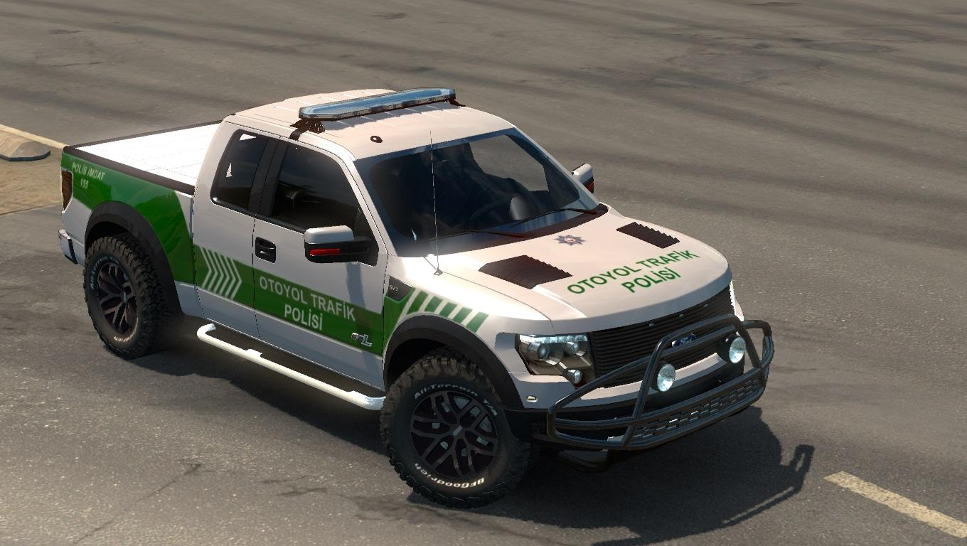 ford f150 raptor turkish police car paintjob v1 1 car mod ets2 mod. Black Bedroom Furniture Sets. Home Design Ideas
