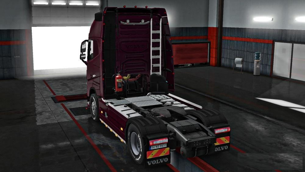 NEW VOLVO FH16 ACCESSORIES + INTERIOR V4 5 TRUCK MOD - ETS2 Mod
