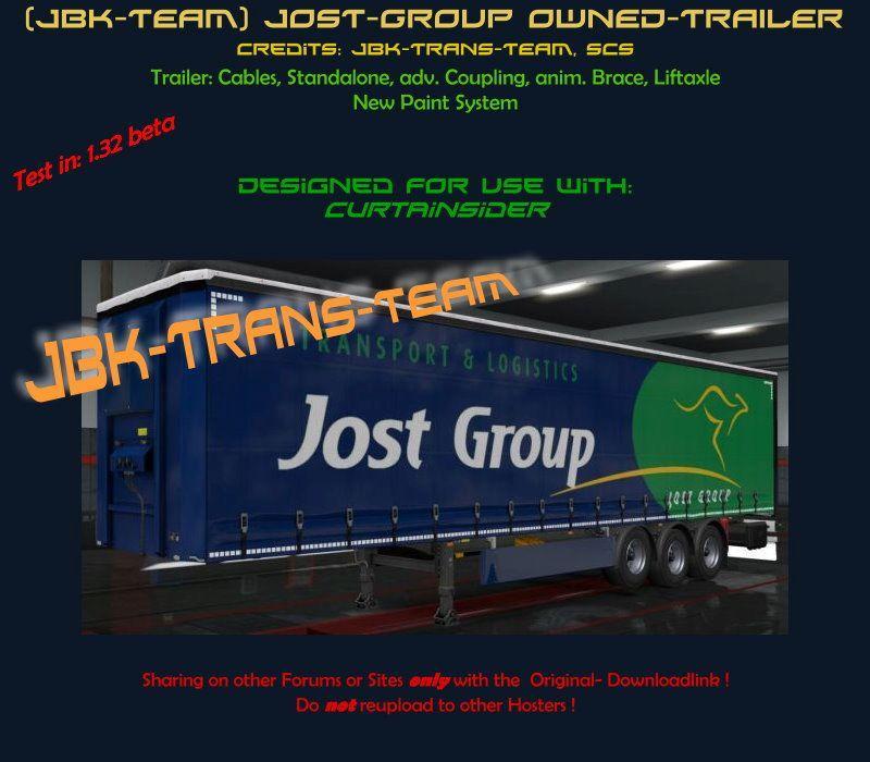 JBK JOST GROUP OWNED TRAILER V1 0 ETS2 - ETS2 Mod