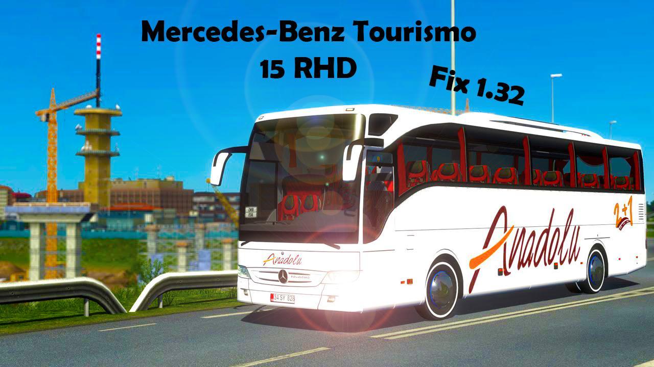 MERCEDES BENZ TOURISMO 15 RHD FIX 1 32 BUS MOD - ETS2 Mod