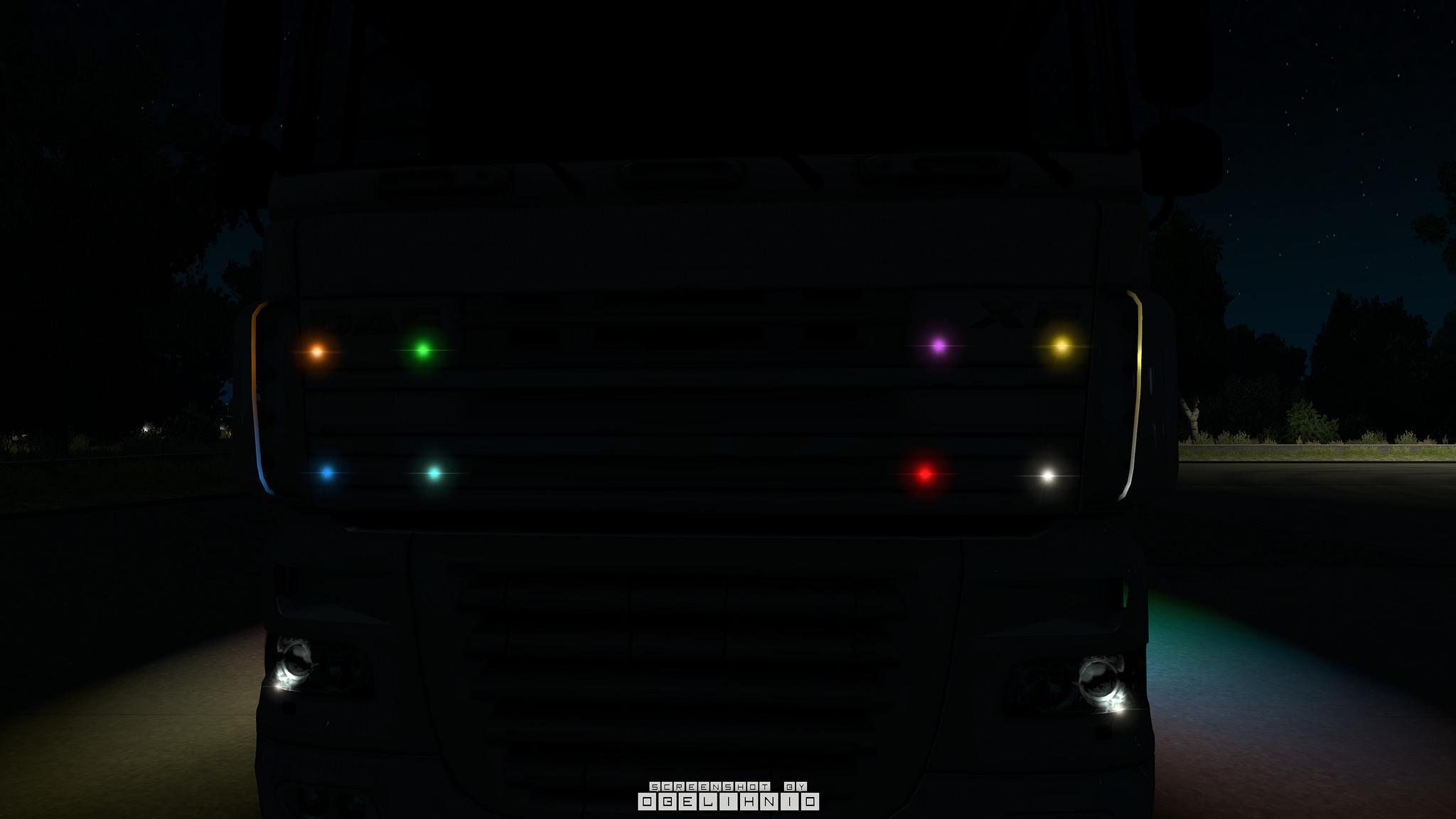 Strobe Lights For Trucks >> BOREMAN LED MARKER LIGHTS V1.6 TUNING MOD - ETS2 Mod