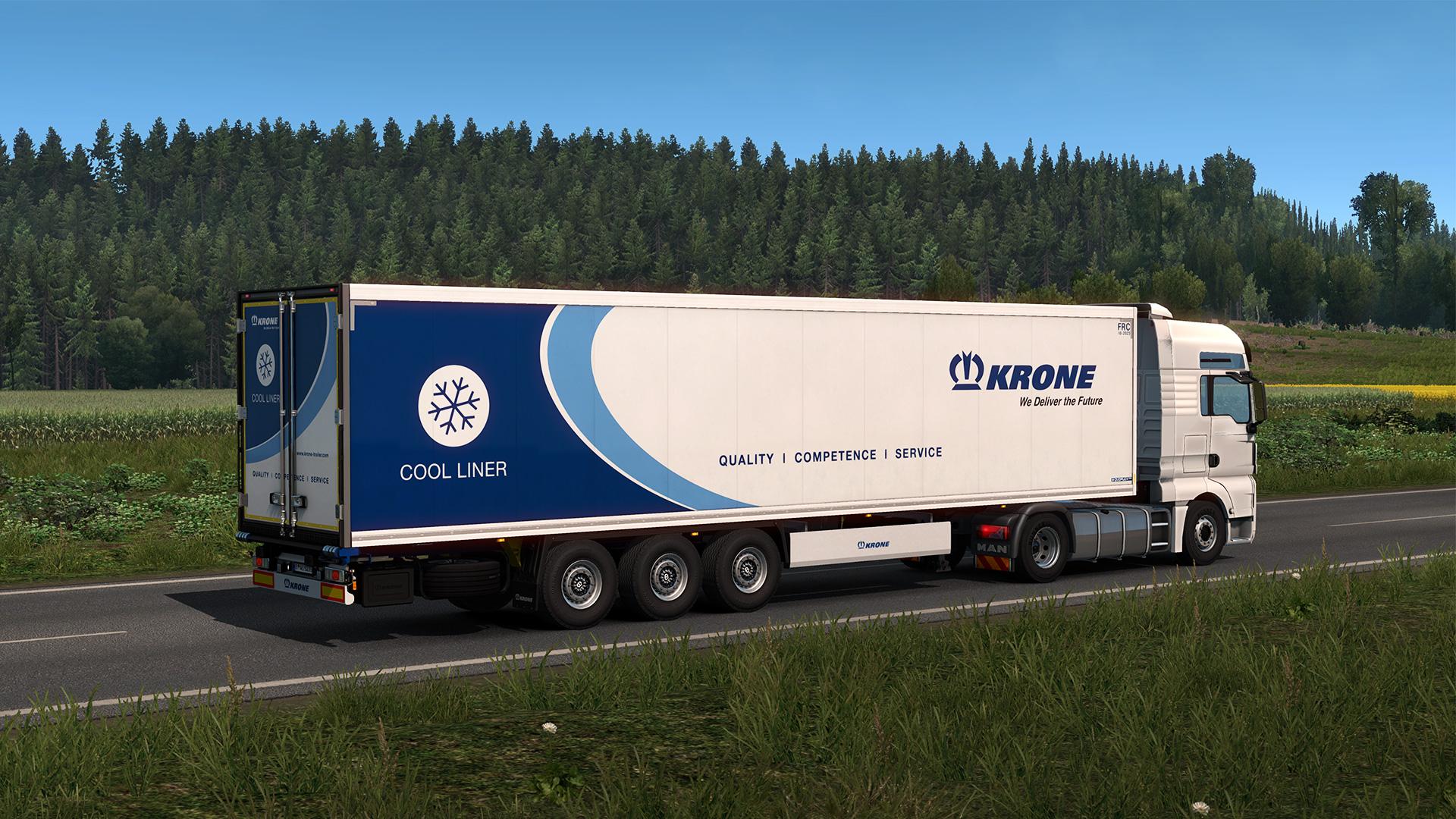 euro truck simulator 2 krone trailer pack ets2 mod. Black Bedroom Furniture Sets. Home Design Ideas