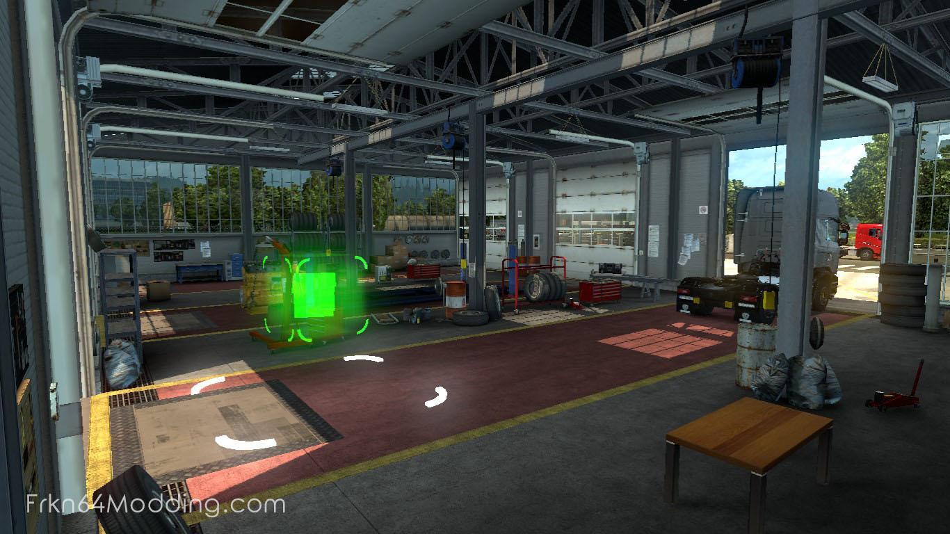Truck Headquarters Garage V1 2 By Frkn64 1 32 X Mod Ets2 Mod