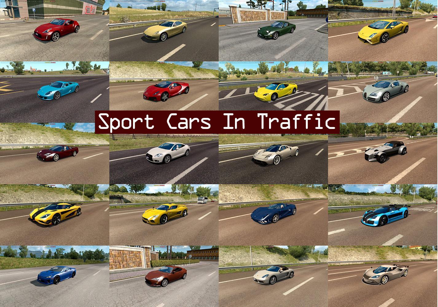 Sport Cars Traffic Pack By Trafficmaniac V2 2 Mod Ets2 Mod