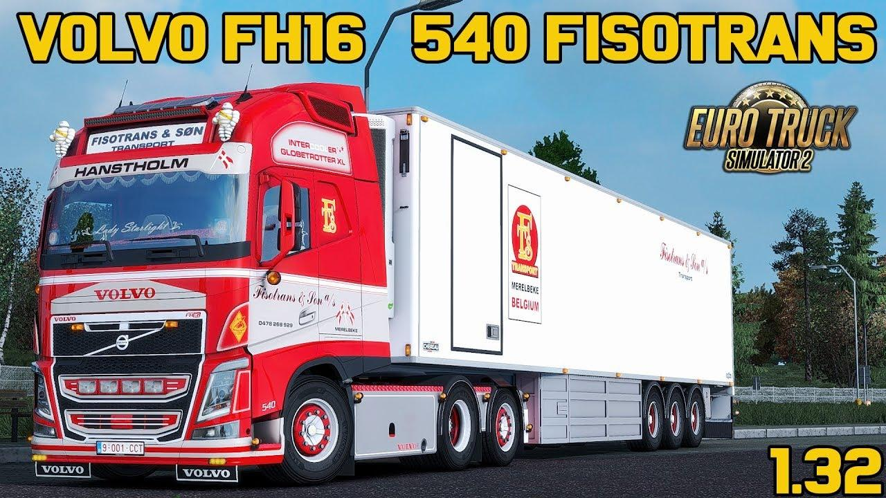 Seat Skins For Trucks >> VOLVO FH16 540 FISOTRANS EDITION + TRAILER CHEREAU V1.0 TRUCK MOD - ETS2 Mod
