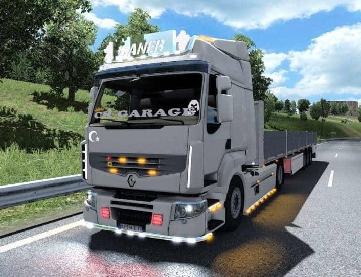 Renault premium v1 0 ck garage truck mod ets2 mod for Credit garage renault
